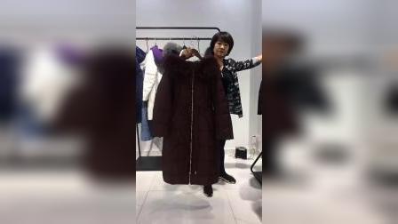 深圳一线品牌帝素羽绒服尾货折扣批发走份女装