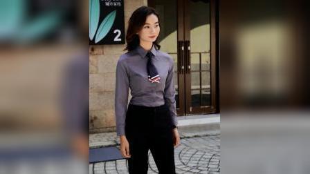 职业装衬衣女银行工作服高档商务面试工装公务员保险男女同款衬衫