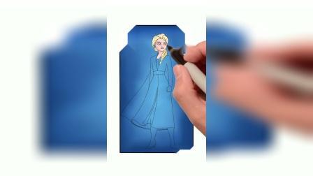 宝贝计画在线学画少儿美术宝宝学画《天天画APP——冰雪奇缘3》