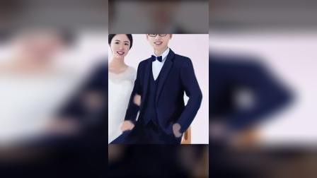#结婚结婚结婚 绘制婚纱照,祝新婚快乐!