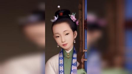 【古画遇见PS】绘制干隆皇帝妃子像。#穿越清朝 #历史