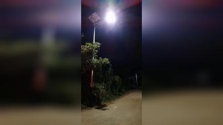 新农村改造太阳能路灯安装效果