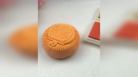 蓝胖子月饼,手工制作哆啦A梦#月饼#中秋节#手工