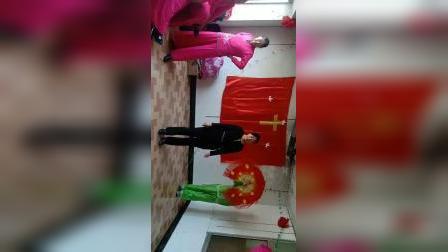 兴城市南大乡基督教堂圣诞舞蹈十字架的爱