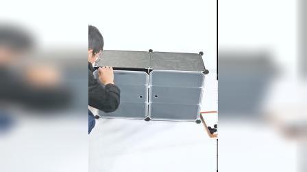 【3分层鞋柜--2列6层】安装视频