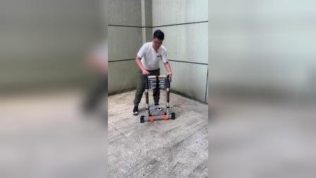 德国巴芬-伸缩人字梯使用视频