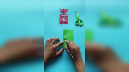 儿童剪纸手工,烟花炮竹,让孩子动手又动脑