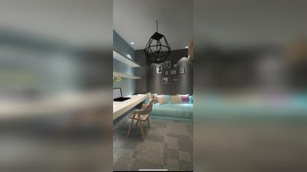 装修公司装修100平方米小型办公室装修设计效果图方案.mp4