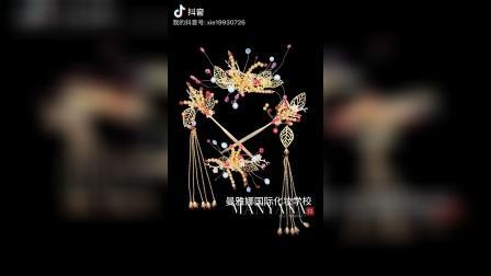 青岛权威机构曼雅娜化妆培训学校大专班学员作品手工制作