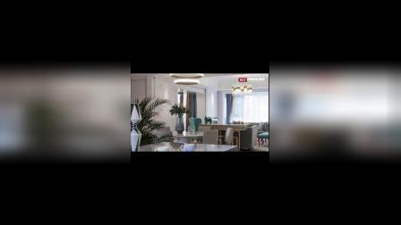 【中策装饰】昆明家装 挪威蓝度假空间,海东俊园180 ㎡简欧风平层