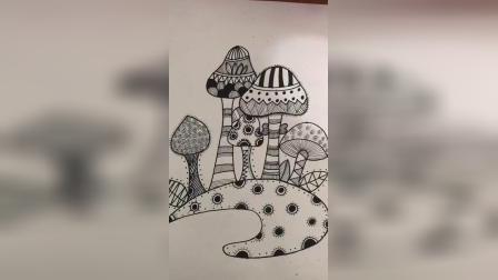 线描画《小树林》.mp4