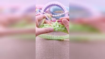 多彩线艺雪纱带透明仙女包教程
