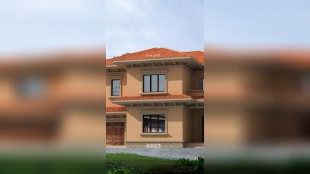 简欧二层别墅外观设计效果图,造价低户型实用
