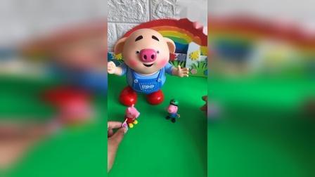 乔治想看他的玩具朋友跳舞,可是没有电池了,佩奇姐姐帮助了乔治!