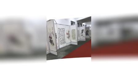 八棱柱展板书画展示架