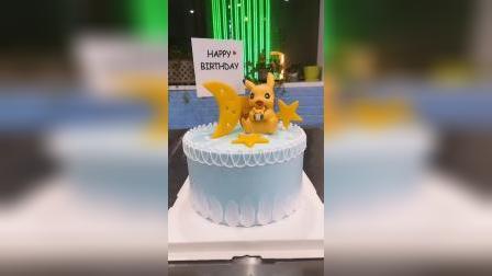 【皮卡丘奶油蛋糕】#翻糖先生 #把生活拍成电影 #生日蛋糕 #这个生日有点虎 #天然软欧面包培训
