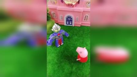 少儿益智玩具:小奥特曼变超级大去救爸爸