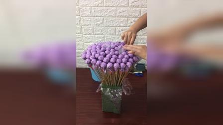 轻奢款韩式棒棒糖花束包装
