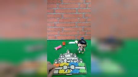 葫芦娃七娃自己动手做蛋糕,要给葫芦爷爷过生日,葫芦爷爷好幸福呀