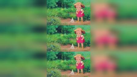 只有干净如孩童般的心灵,才能毫无欲念地感受自然的美好。#龙猫#宫崎骏