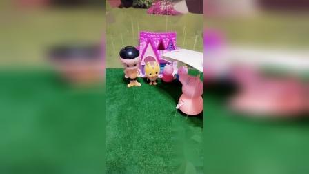 小猪佩奇玩具:下雨了,小朋友们该怎么回家呢?