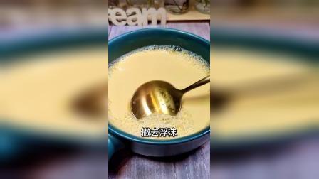 #美食推荐官奶香嫩滑的旺仔烤布丁,简单易做比蛋挞还好吃。#果汁杯100种玩法