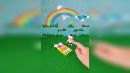 小猪佩奇玩具:佩奇的棒棒糖被大鳄鱼抢走了,乔治有办法帮姐姐要回来吗
