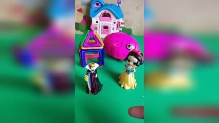 贝儿弄坏了白雪公主的磁力片,王后和白雪公主浑然不知,该怎么告知王后呢?