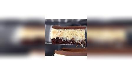 巧克力椰丝蛋糕,切开满满都是