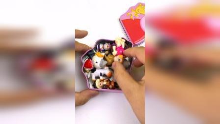 粉色小猪佩奇礼物盒子奇趣蛋
