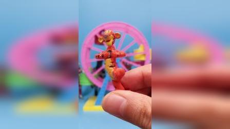 奥特蛋奇趣蛋拆惊喜迪士尼小熊维尼系列玩具