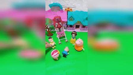 少儿益智玩具:怪兽居然跟乔治抢婴儿车