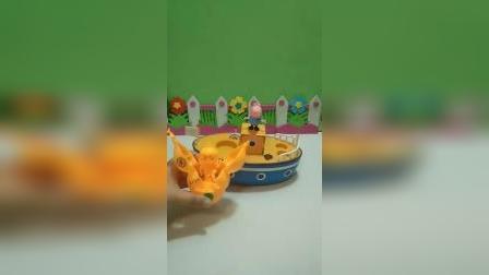 小猪佩奇玩具:小葫芦的妈妈被大狮子抓住了!