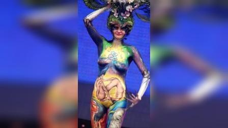 国际模特彩绘节,名模彩绘大赛展演