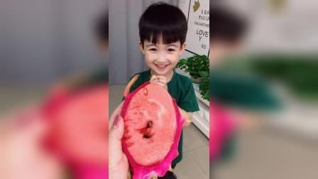 童年趣事:宝宝给妈妈的红心火龙果