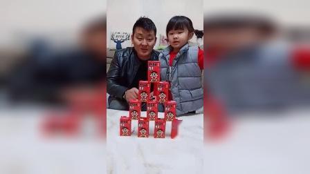 亲子玩具:旺仔牛奶,可儿要全都喝光....