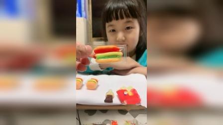 童年趣事:汉堡糖披萨糖真的太好吃了