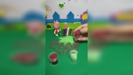 益智宝宝亲子幼教:乔治玩小猪佩奇的气泡胶