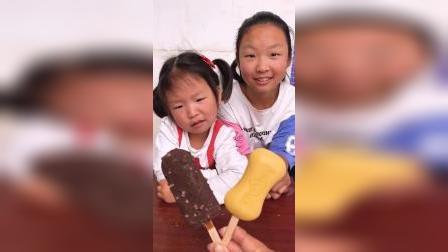 童年趣事:都想吃巧克力,怎么分啊!