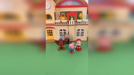 玩具:猪爸爸来接乔治,手拉手回家啦。