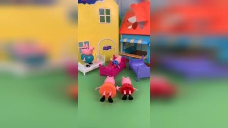 玩具:乔治怎么哭了,原来是尿床了。