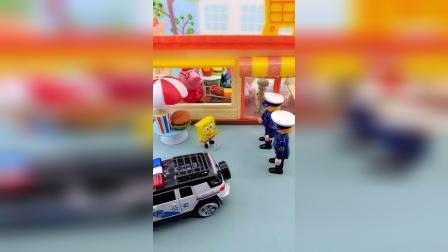 警察叔叔来找章鱼哥,是找他干嘛呢?