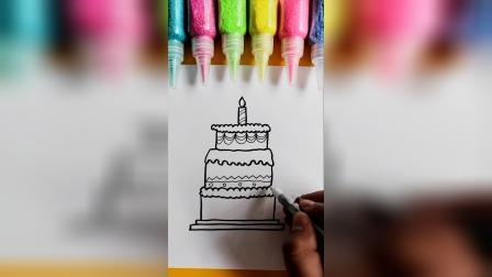 简笔画生日蛋糕,你喜欢吃吗