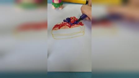 你爱吃水果蛋糕吗