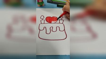 蛋糕简笔画教程