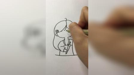 花木兰#卡通简笔画