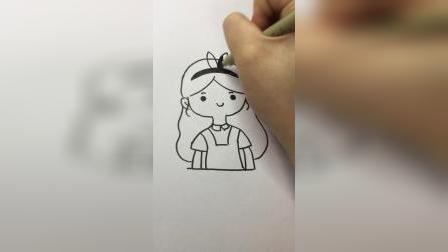 灰姑娘#卡通简笔画