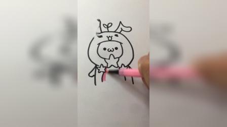 长草颜十二生肖兔子#卡通简笔画