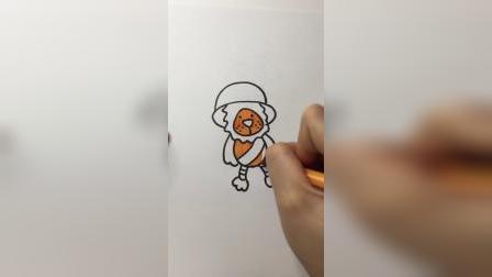 卡通大狮子#简笔画