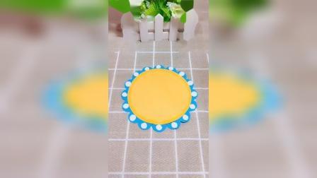 用折纸做一个太阳公公吧